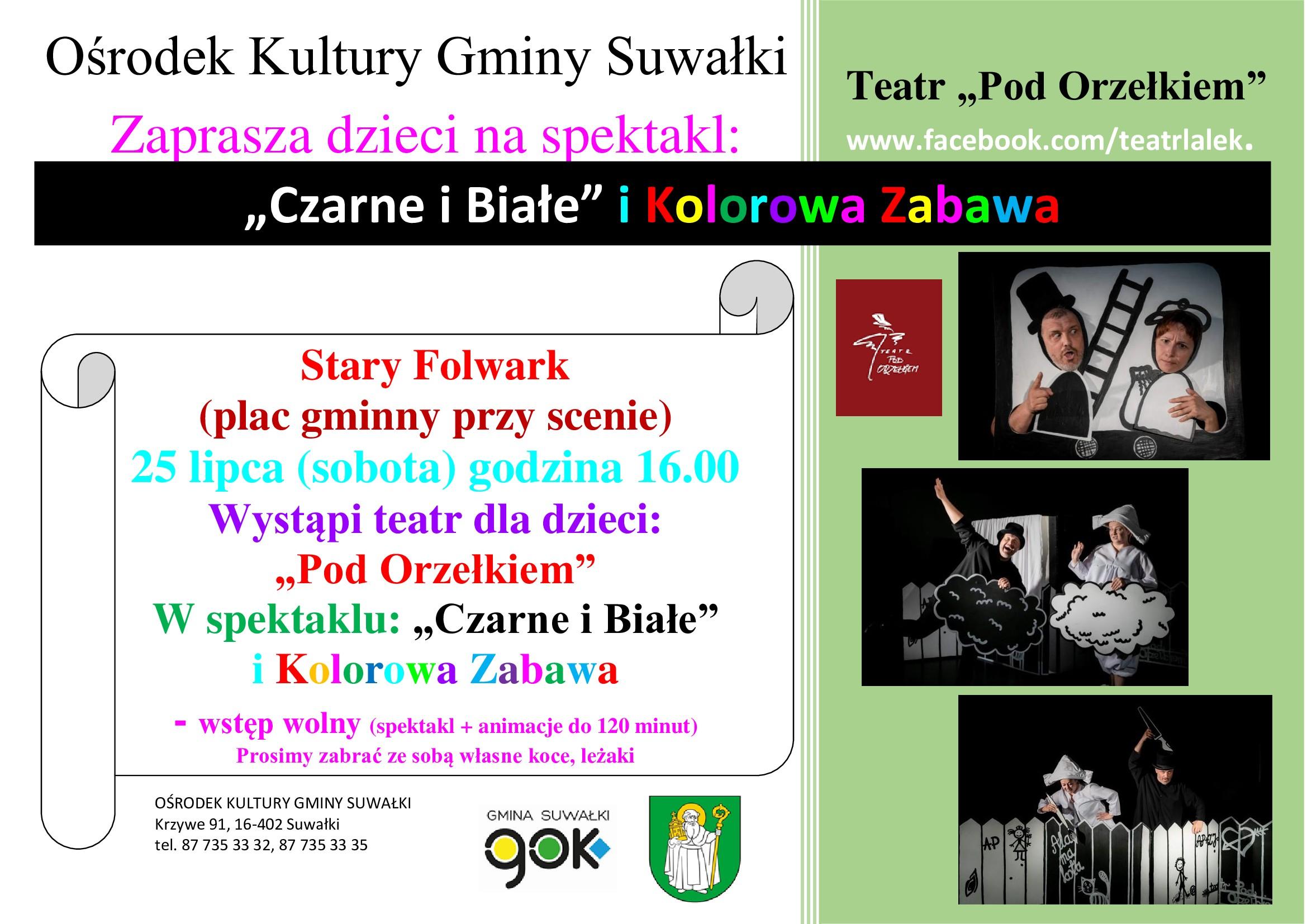 """Spektakl dla dzieci w Starym Folwarku: """"Czarne i Białe"""" i Kolorowa Zabawa"""