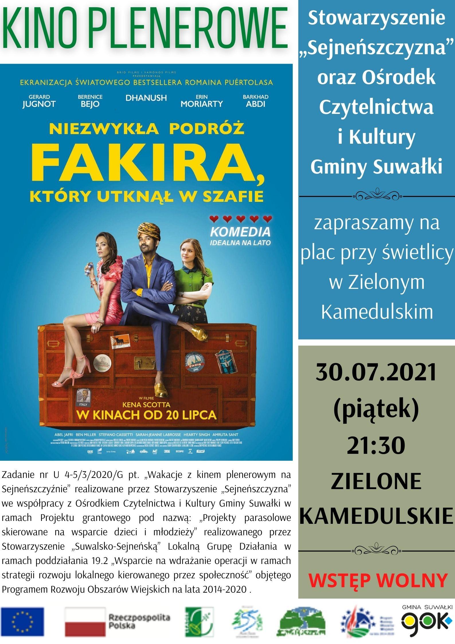 Kino plenerowe w Zielonym Kamedulskim - NOWY TERMIN